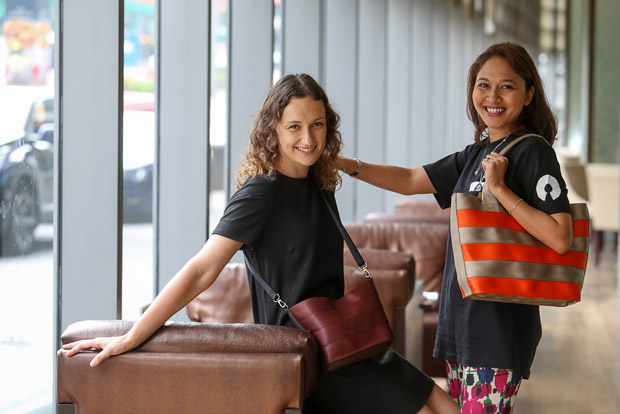 Zoe Victoria and Norashahera Haleem of Biji-Biji believe that you can be fashionable and eco-conscious at the same time. — Pictures by Choo Choy May and courtesy of Biji-Biji