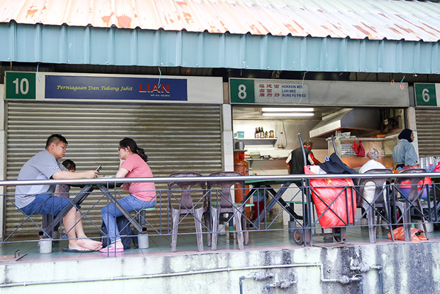 The stall is located at a small food court opposite the Good Shepherd Lutheran Church.