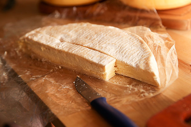 The Brie has a lovely buttery taste that many are willing to queue up for.
