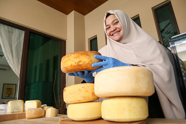 Annisa finds the cheesemaking process incredibly peaceful.