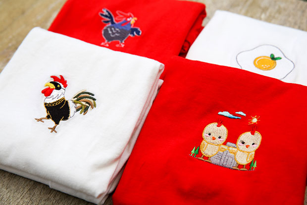 Salang Design's debut collection featured an adorable chicken family to commemorate Year of the Rooster.