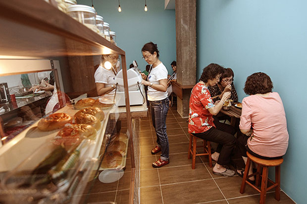 The place at Happy Mansion is a tight squeeze but customers don't mind the limited space