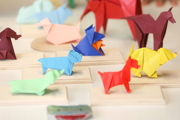 An assortment of dogs by Yasuhiro Sano, Juan Lopaz Figueroa, Makoto Yamaguchi, Edwin Corrie and Makoto Yamaguchi which are all folded by Kenneth Ch'ng