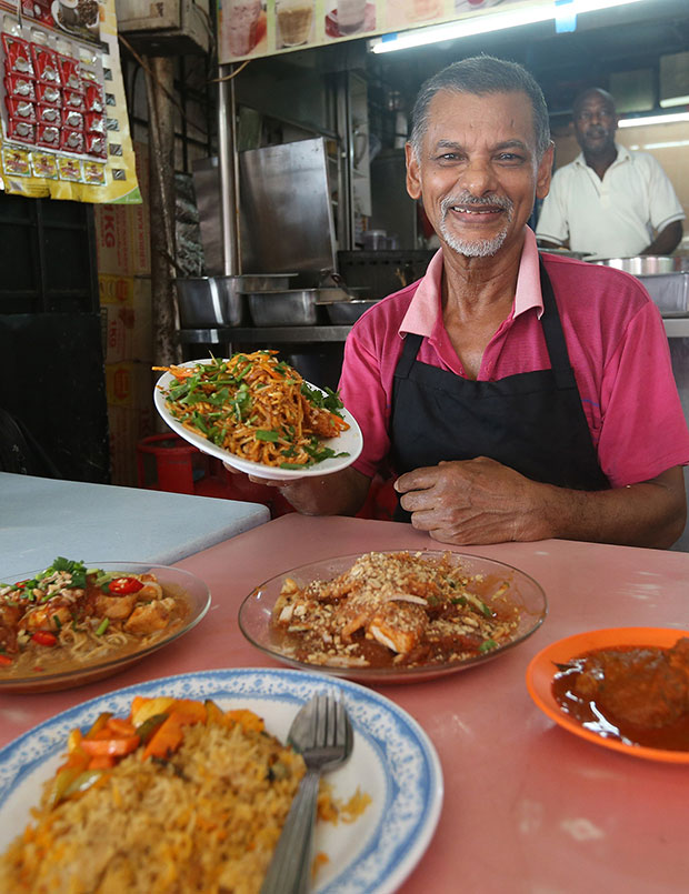 Navvirusaleem bin Ibrahim (Saleem) is the man behind the stove and this business started back in 1979