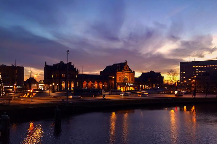 Sunset over Groningen