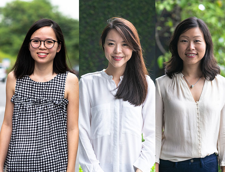 Amazin' Graze founders have gone through sweat and tears to promote their homegrown brand (from left to right): Sabrina How, Ching Yi Lee and Amy Zheng.