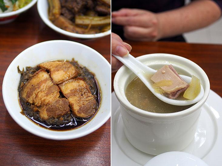 梅菜扣肉和猪肚汤也是很多人想念妈妈煮的菜色呢。-Lee Khang Yi摄-