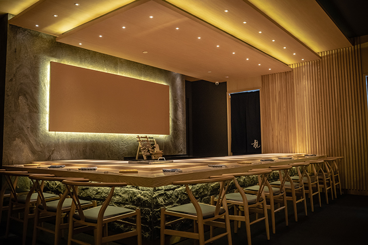 Taking centrestage at Sushi Ryu is their 11-seater sushi counter made with fine hinoki wood