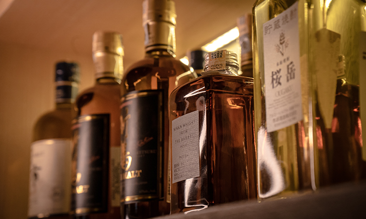 A selection of Japanese whiskey are available during your meal at Sushi Ryu