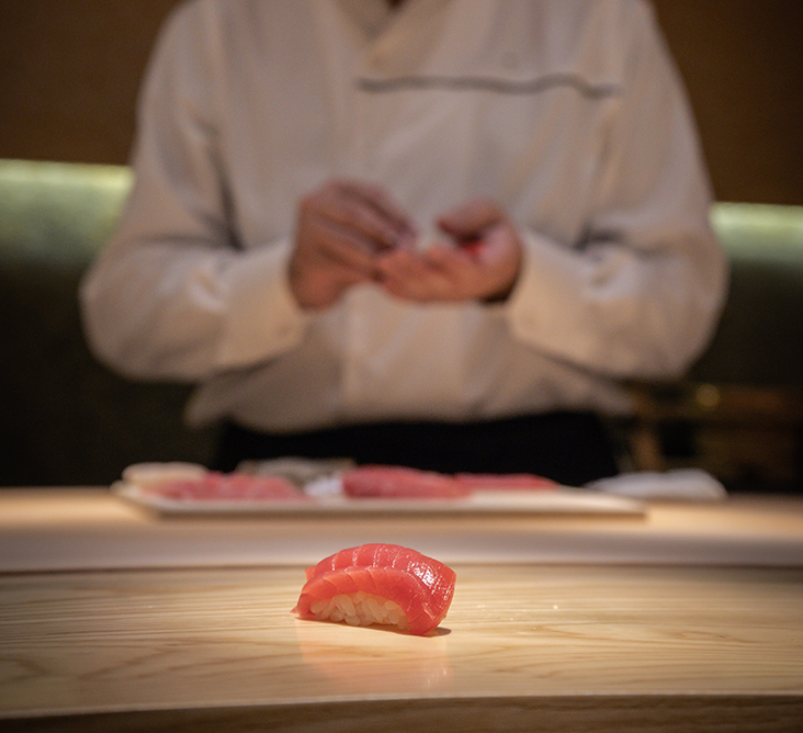 Dine on finely crafted sushi at Sushi Ryu