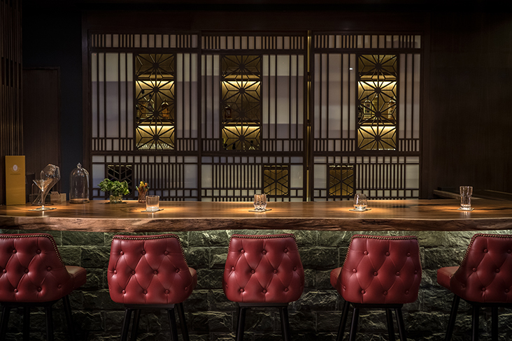 Sit at the 6-seater wooden counter to see the action behind the drinks at Bar Shake