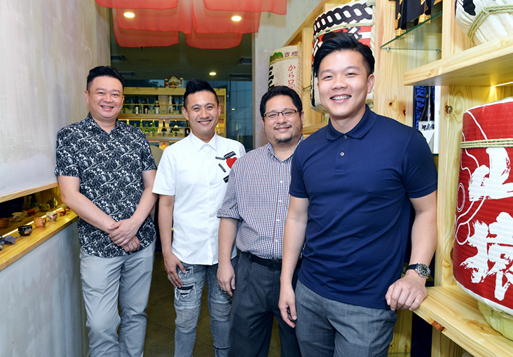 Tsukiji No. 8's owners (from left to right): Alex Fong, Raymond Ng, Lim Chun Heng and Rodney Ther