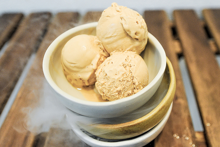 A crowd favourite is the salted caramel ice cream with its distinct burnt caramel taste
