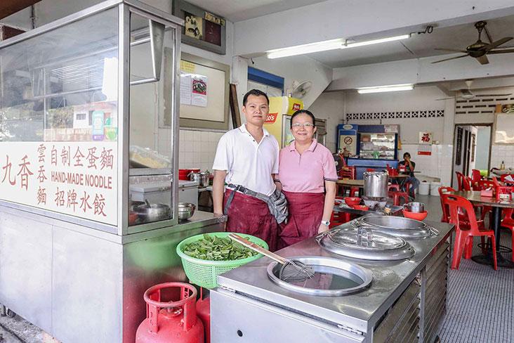 Restaurant K.Intan's Goh Wee Peng with his wife, Tan Chu San. — Pictures by Firdaus Latif
