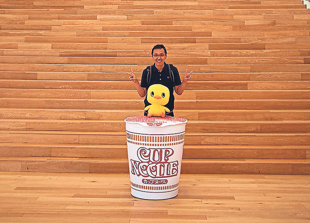 The classic cup noodles design is a favourite with visitors to the Cup Noodles Museum