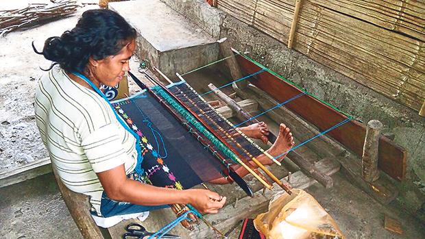 Songket weavers in Flores Island of Nusa Tenggara, Indonesia