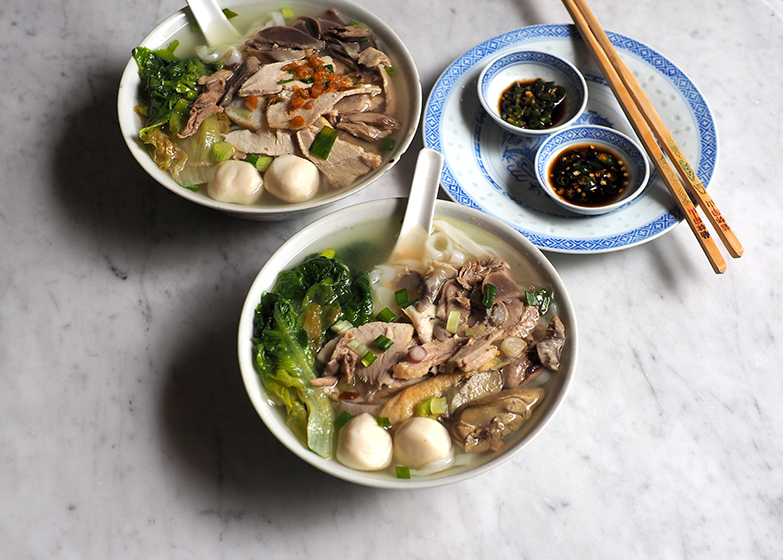 Fussi Fussy's duck meat 'koay teow' soup is an incredibly comforting bowl with its wholesome clear broth and toppings of pork, duck meat, chicken liver, chicken gizzards with fish balls and fish cake slices. — Pictures by Lee Khang Yi
