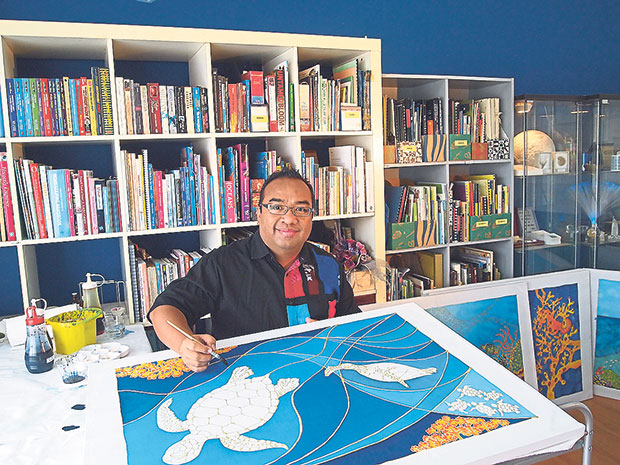 Writer-illustrator Nor Azhar Ishak is a science museum educator by day