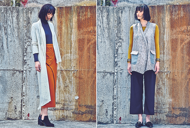 This smart casual ensemble comes straight from their Fall/Winter 2015 collection (left). Mimpikita clothes are suitable for any type of women of any background (right). — Pictures by Choo Choy May and courtesy of Mimipikita