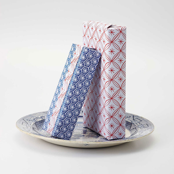 Wrapping paper from nala are printed on recycled paper using soy ink. – Picture courtesy of Nala Designs