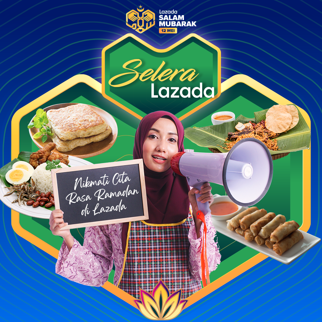 """首次设立""""Selera Lazada""""美食专区,消费者可选购喜爱的开斋美食。-Lazada提供-"""