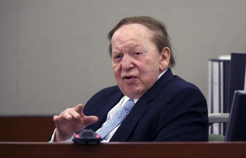 Las Vegas Sands Corp Chairman and Chief Executive Sheldon Adelson testifies on the witness stand at the Regional Justice Centre in Las Vegas, Nevada in this file picture taken on April 4, 2013. — Reuters pic