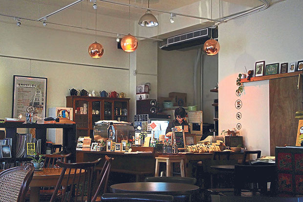 Luguo Café is housed at ArtYard, a cultural collective inside the historic A.S. Watson & Co building.