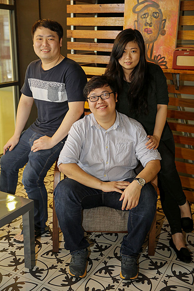 The trio behind Thirdwave (from left to right) Beh Kok Boon, Beh Kok Aun and Chewyeng Beh