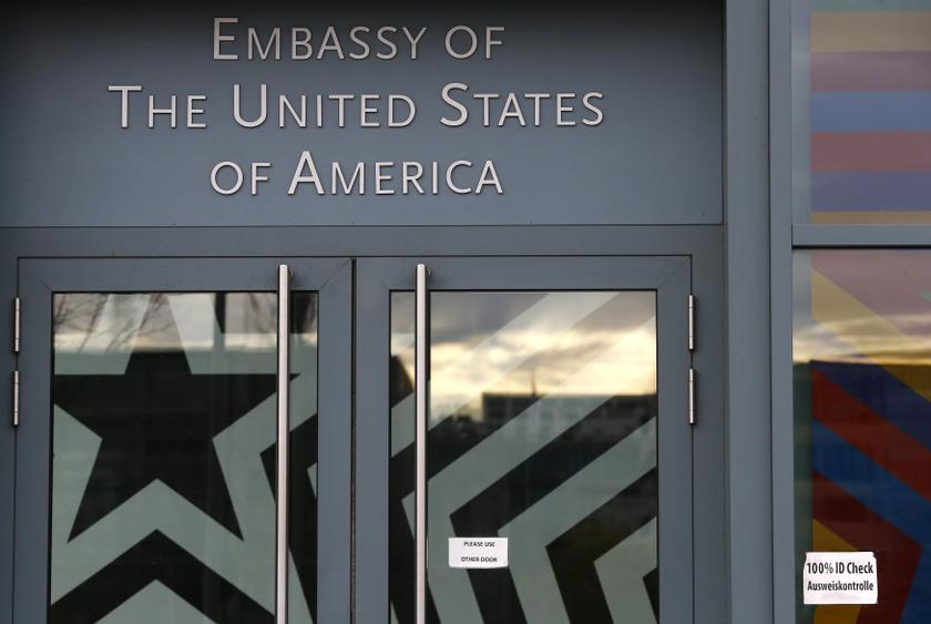 The entrance to the US embassy is pictured in Berlin October 28, 2013. A German newspaper said on Sunday that US President Barack Obama knew his intelligence service was eavesdropping as long ago as 2010. —Reuters pic