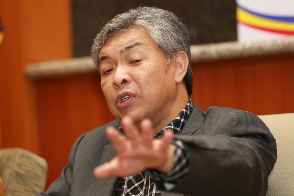 The home minister came under fire from his non-Malay allies in the Barisan Nasional (BN) coalition over remarks reported by The Sun daily, in which he was quoted as saying that Malays were paying the price of being kind to the minority races who were growing more arrogant. — file picture