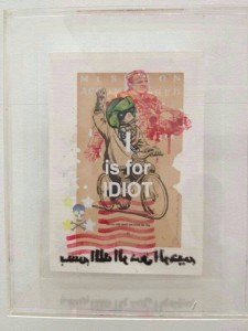 The controversial 'I is for Idiot' painting by J. Anu/Anurendra Jegadeva.