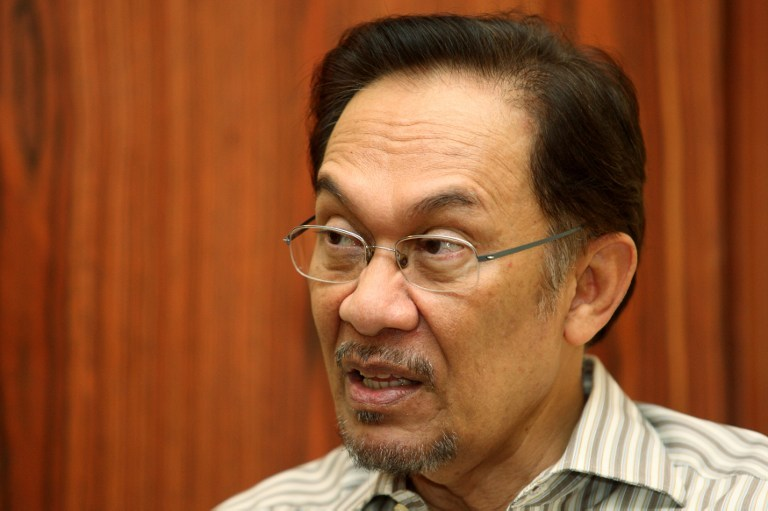 Anwar told The Nation that the Malaysian government lacked transparency and accountability in managing the MH370 disaster. — AFP pic