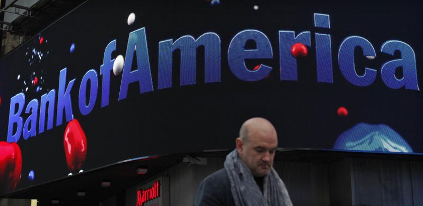 A man walks next to a Bank of America branch in New York in this October 24, 2012 file photo. — Reuters pic