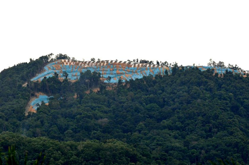 A general view indicates hill clearing activity being conducted in Bukit Relau in Penang, July 17, 2013.