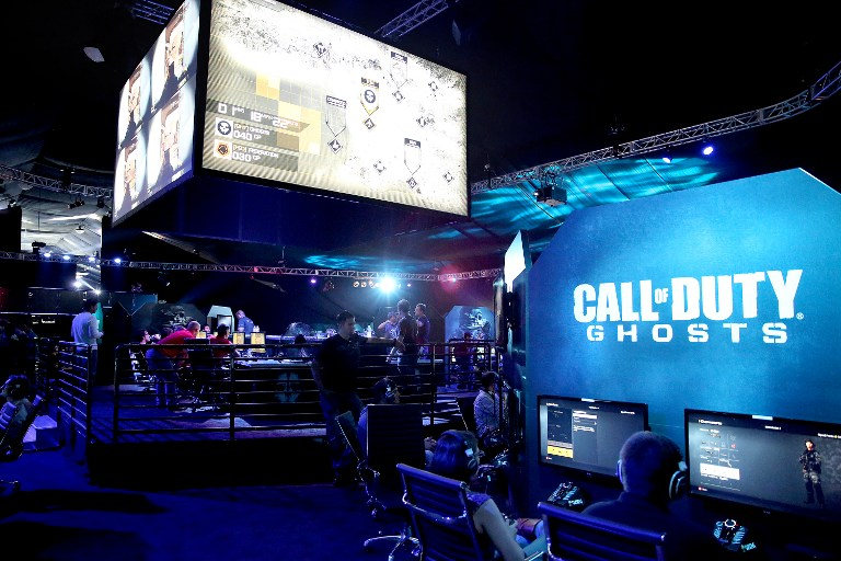 Ghosts' Multiplayer Global Reveal at LA Live on August 14, 2013 in Los Angeles, California. — AFP pic