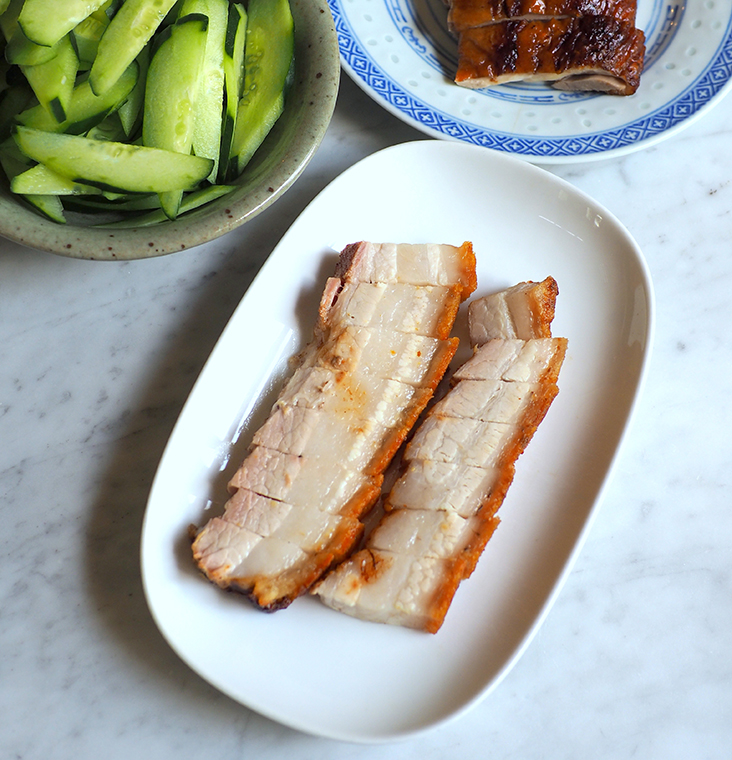 If you love crispy roast pork, this will be perfect for you as each piece is juicy.