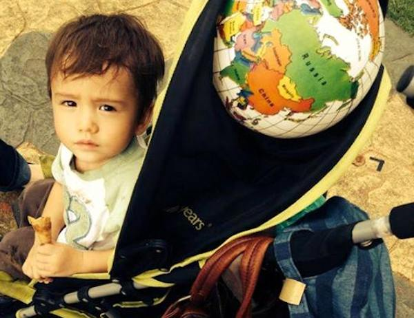 A picture of the British boy only identified as 'Freddie' who is reported to have been kidnapped from his home in Bangsar on November 8, 2013. — Picture courtesy of a family friend