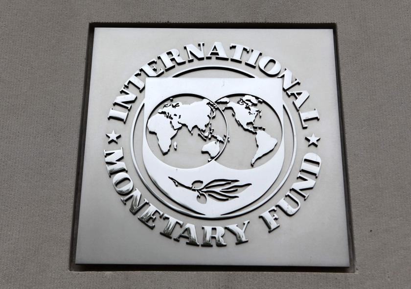 The International Monetary Fund (IMF) logo is seen at the IMF headquarters building during the 2013 Spring Meeting of the International Monetary Fund and World Bank in Washington, April 18, 2013. ― Reuters pic