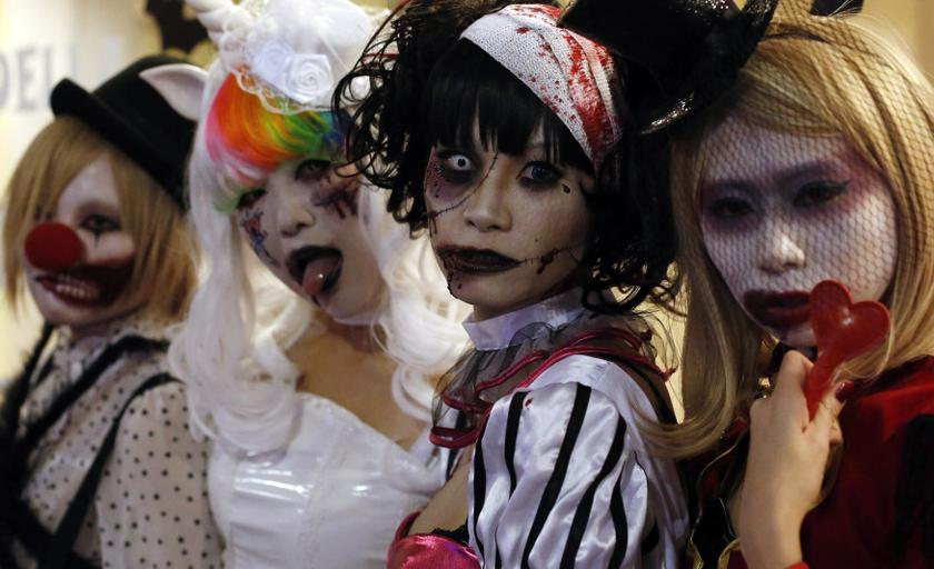 File picture of participants, wearing make-up and costumes, after a Halloween parade in Japan. Ikatan Guru Muslim Malaysia (IGMM) deputy president Mohd Azizee Hassan said that the Halloween celebration is inappropriate as it clashes with Malaysian culture and traditions. — Reuters pic