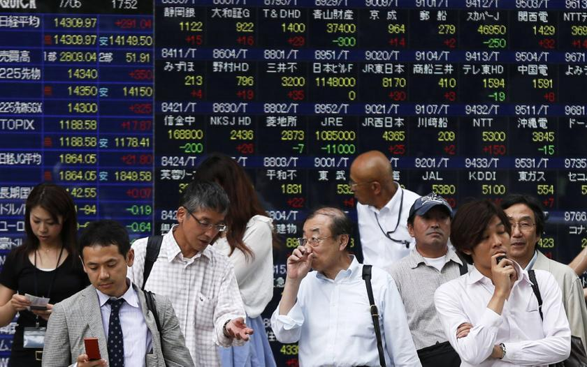 The benchmark Nikkei 225 index slipped 0.27 per cent or 56.71 points to 21,073.01 in early trade while the broader Topix index was down 0.40 per cent or 6.23 points at 1,547.99. — Reuters pic