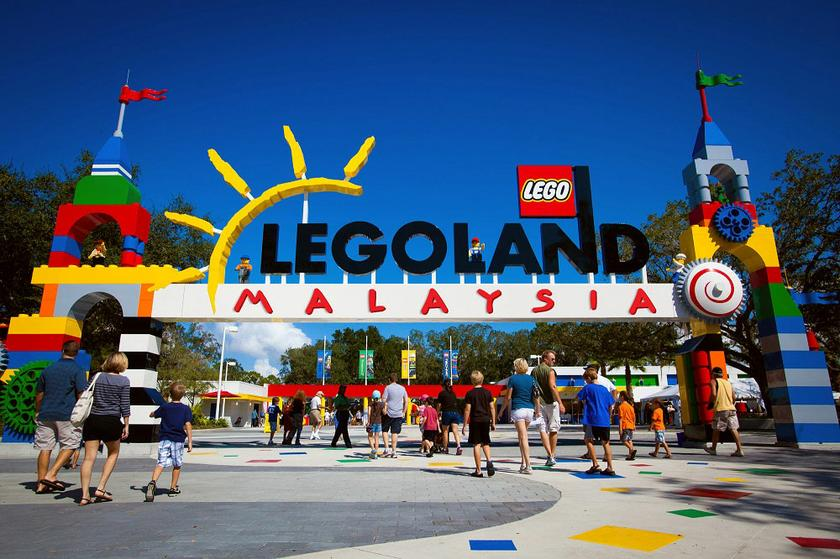 Legoland Malaysia has been forced to cut its capacity to 30 per cent to accommodate Covid-19 healthcare standard operating procedures. — AFP pic