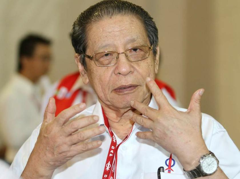 DAP veteran Lim Kit Siang said PAS vice-president Idris Ahmad was wrong to suggest that straight fights would have helped the opposition maximise its chances in the two seats. — Picture by Choo Choy May