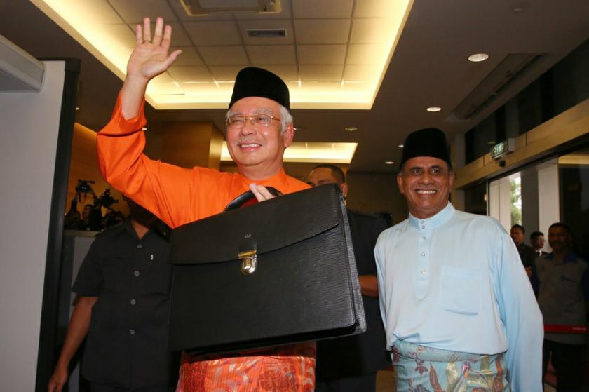 Prime Minister Datuk Seri Najib Razak is pictured before the tabling of Budget 2014 in Parliament in Kuala Lumpur on October 25, 2013. — Picture by Saw Siow Feng
