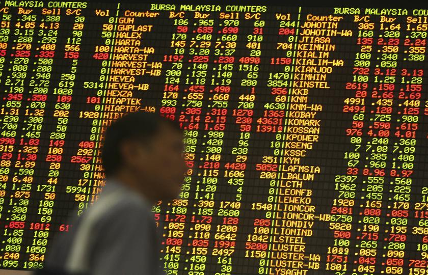 At 11am, the benchmark FTSE Bursa Malaysia KLCI (FBM KLCI) rose 6.05 points to 1,642.74 from 1,636.69 at yesterday's close. — Reuters pic