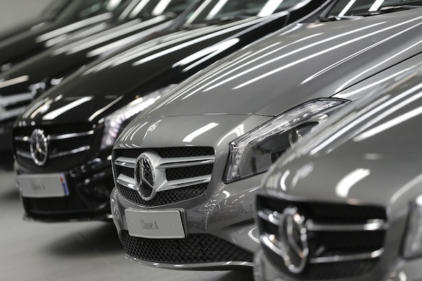 Car sales are a closely-watched gauge of the health of Germany's economy. — Reuters pic