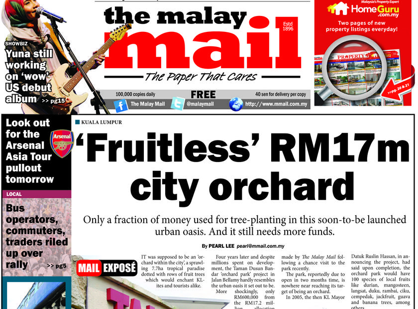 Flashback of The Malay Mail's expose on the 'fruitless' orchard.