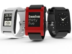 The Pebble smartwatch — Picture courtesy of Pebble smartwatch