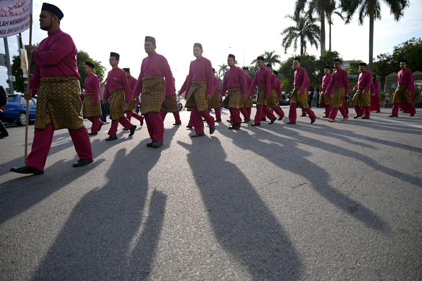 The National Fatwa Council said the wahhabism movement has no place in the country as its followers are fond of declaring other Muslims apostates. File picture shows Muslims taking part in the Maulidur Rasul procession in celebration of the birth of Prophet Muhammad in George Town, Penang. — Picture by K.E. Ooi