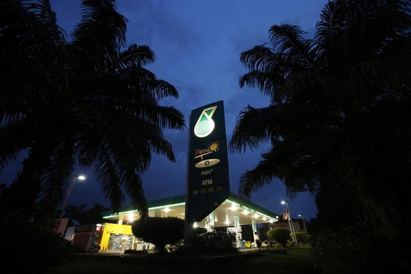 The Petronas logo is seen at one of its petrol outlets in Putrajaya December 8, 2012. – Reuters pic