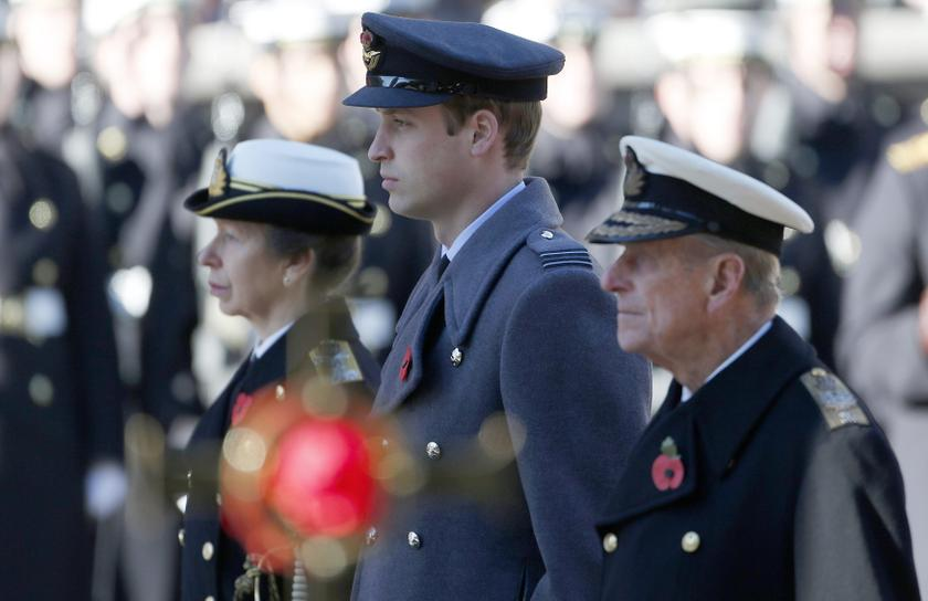 Britain's Princess Anne (left), Prince William and Prince Philip attend the annual Remembrance Sunday ceremony at the Cenotaph in London November 10, 2013. ― Reuters pic